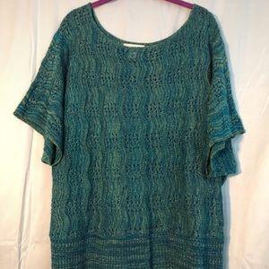 Crocheted top 2x